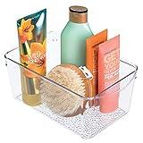 iDesign Organizador de Maquillaje, Caja de plástico para Productos de Belleza y cosméticos, Bandeja para Guardar Maquillaje, Transparente