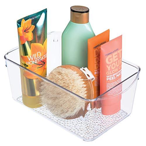 iDesign Kosmetik Organizer, Aufbewahrungsbox aus Kunststoff für Kosmetik und Beautyprodukte, zur Kosmetik Aufbewahrung, durchsichtig