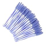 100 Pack Mascara Wands Disposable Eyelash Brushes for Eye Lash Extensions Makeup Brush Applicators One-off Use Cosmetic Tool, ( New Light Purple)