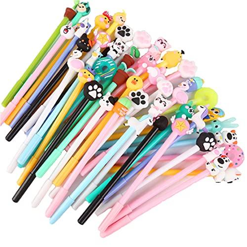 YueChen 30x Penna gel animale del fumetto,Divertente penna -Materiale Scolastico Regalo dei Bambini, for festa di compleanno bambini party Festival