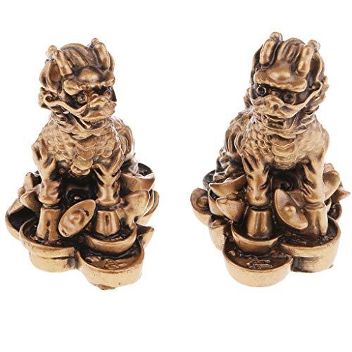 SM SunniMix Feng Shui Chi Lin Statue De La Richesse De La Fortune Objets D'artisanat