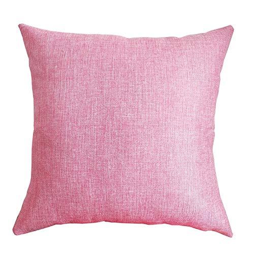 KANGDILE Cubrir Las Almohadas sofá Color sólido de Lino Sofá Cojín Sofá la decoración del hogar decoración Funda de Almohada Almohada Cubierta (Color : T, Size : 30x50cm)
