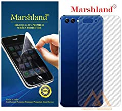 Marshland 3D Carbon Fiber Back Screen Protector Flexible Anti Scratch Bubble Free Case Friendly Back Screen Guard Compatible for Huawei Honor View 10