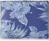 Tommy Bahama Men's 100% Leather Slimfold Wallet, Blue, One Size
