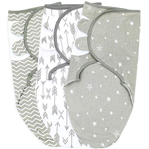 Baby Swaddle Blankets Small/Medium 03 Month Grey