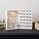 Lights4fun Beleuchteter Holz Adventskalender zum Befüllen 30cm x 21,5cm