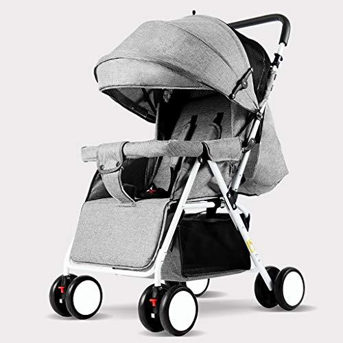 Cochecito De Bebé Plegable Ultraligero Y Conveniente, Pedal para Sentarse/Acostado Y Ajustable, CinturóN De Seguridad De 5 Puntos Carrito De Bebé ReciéN Nacido Cochecito para NiñOs PequeñOs