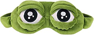 3D Cartoon Sleep Mask - Cute Frog Eye Cover, Super Soft Eye Blindfold Sleeping Mask for Children and Adults