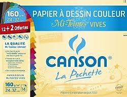 papier canson couleur
