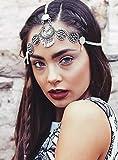 Deniferymake-up Boho - Diadema de plata para novia, accesorio bohemio para el pelo de boda