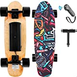 Hanico Skateboard Eléctrico 7 Layers Decks con El Regulador Alejado, Tabla de Skate Completa Maple Wood Longboards...