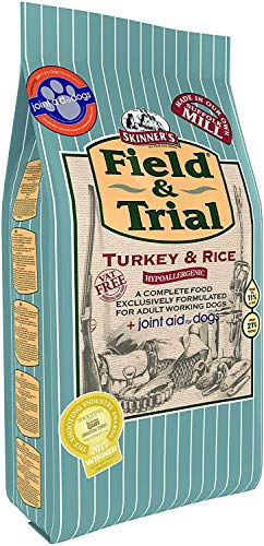 Skinner s Field & Trial Complete Dry Hypoallergenic Working Dog Food Turkey and Rice + Joint Aid, 15 kg