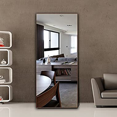 CrossROBBIN Thin Frame Floor Mirror, 1-34206T (Natural, 65 x22 )