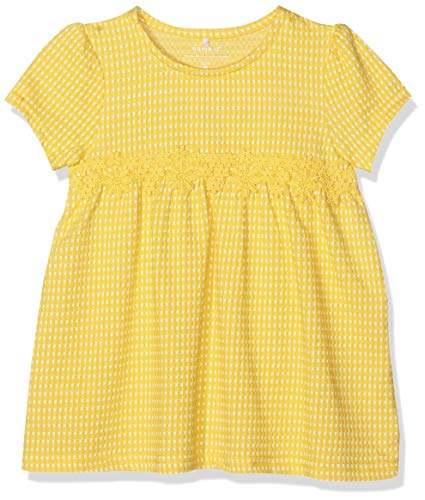 Name It Nmfhabi SS Tunic Robe, Jaune (Primrose Yellow Primrose Yellow), 92 Bébé Fille