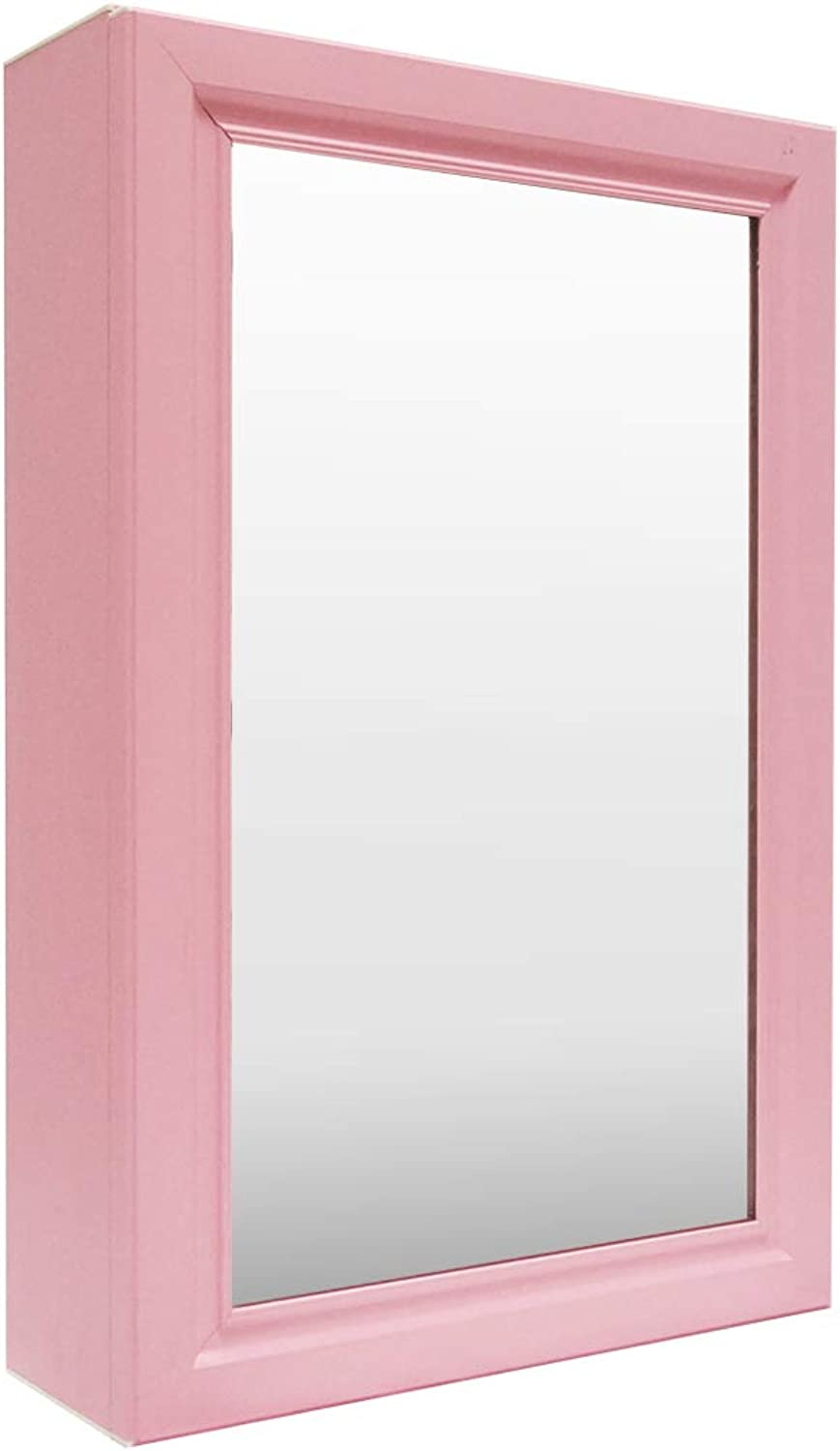 Tamyoo Mirrored Medicine Cabinet Aluminum Cabinet with Framed Mirrored Door Bathroom Vanity Mirror(Pink)