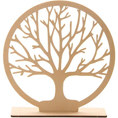 Spruchreif Premium Qualität 100% Emotional - Árbol de la vida de madera con 20 cm de diámetro, para decoración de mesa, símbolo de árbol de la vida, regalo esotérico y decorativo