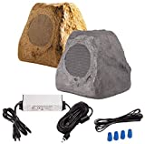 OSD Audio 5.25' 120W Bluetooth Outdoor Rock Speaker – Weather Resistant, Sandstone Canyon Brown -...
