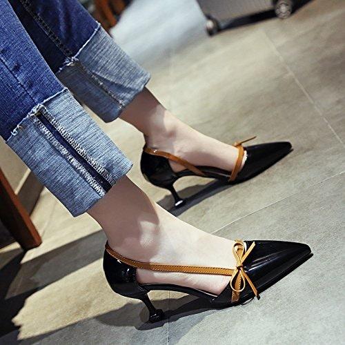 YMFIE La Mode s'emmêler et Occasionnels Chaussures en Cuir Ladies' Sandales.