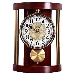 ROYALTOP Mantel Clock Silent Decorative Wood Mantle Clock with Westminster Chimes Mantle Clock for Fireplace Mantel Office Desk Shelf Home Décor