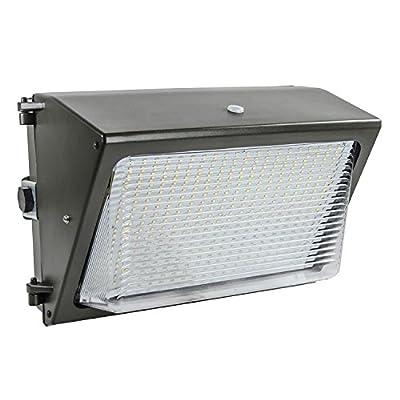 Lights of America 65 Watt Dusk to Dawn LED Wall Pack (91465E2-BR5)