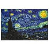 Puzzle de 1000 Piezas para Adultos,Juegos de Rompecabezas Educativos de Plastico, Juego de Rompecabezas de Arte,Decoración de Pared para el Hogar (Cielo de Van Gogh)
