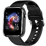 jpantech Smartwatch,Reloj Inteligente con Pulsómetro,Cronómetros,Calorías,Monitor de Sueño,Podómetro Pulsera Actividad Inteligente Impermeable IP68 Smartwatch Hombre Reloj Deportivo para Android iOS