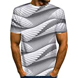 XDJSD Camisetas Camisetas De Cuello Redondo para Hombre Camisetas...