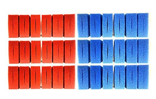 Pondlife Wartungspaket Filterschwamm Ersatz-Set für Oase Biotec 36 / 18xblau+18xrot+1x36Watt+1xBiokick