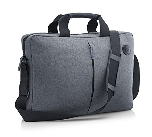 HP Essential 17.3 Inch (43.9 cm) TopLoad Briefcase Messenger Bag for Laptop/Chromebook/Mac - Grey