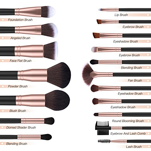 Ensemble de Pinceaux de Maquillage BESTOPE 18 Pièces - 1