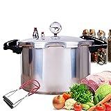 YQG Olla de presión con manómetro, Olla a presión de Estufa de Gas y Utensilios de Cocina enlatados, Olla de Cocina para cocinar al Vapor Comercial de Chef Hotel, Olla de Gran Capacidad de 13.62