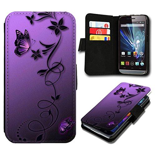 sw-mobile-shop Book Style Huawei Ascend Y300 Premium PU-Leder Tasche Flip Brieftasche Handy Hülle mit Kartenfächer für Huawei Ascend Y300 - Design Flip SB812