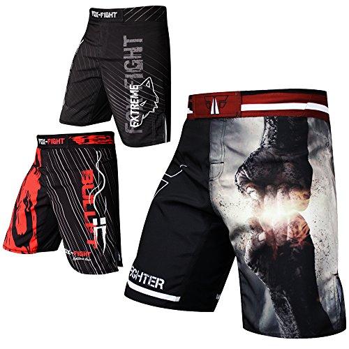 FOX-FIGHT Fist Punch MMA Fight Hosen Short Muay Thai Kickboxen UFC Kampfsport Boxen Training M