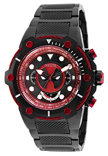 watch with deadpool classic logo design gift for men