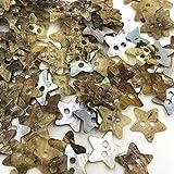Botones de Ropa 50 PCS 12mm 2holes Madre de Pearl Star Costura Botones Scrapbooking Bricolaje Accesorios Botón de Ropa Decorativa PT152 Pulido Fino sin Rebabas.