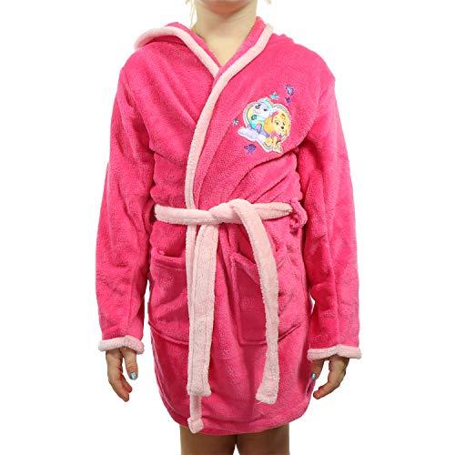 Bademantel mit Kapuze für Kinder aus weichem Fleece, große Auswahl für Jungen und Mädchen TVM Europe (Pink, 122-128)