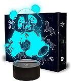 Luz LED 3D de noche, regalos de panda, con 16 cambios de color y control remoto, regalos para niños a partir de 3 4 5 6 años