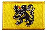 Flaggenfritze Flaggen Aufnäher Belgien Flandern Fahne Patch + gratis Aufkleber