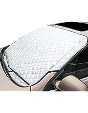 [SCGEHA] フロントカバー 車 凍結防止シート フロントガラスカバー 霜よけ 雪対策 日よけ 簡単取り付け