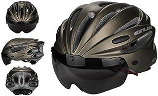 Pawaca Adulto Ciclismo Casco de Bicicleta especializado con Visera extraíble para Hombre y para Mujer protección de Seguridad, cómodo, Ligero, Transpirable, Titanio, Large