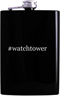 #watchtower - 8oz Hashtag Hip Alcohol Drinking Flask, Black