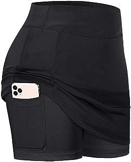 CongYee Women Athletic Skirt Inner Shorts Active Elastic Sports Tennis Running Golf Skorts with Pockets