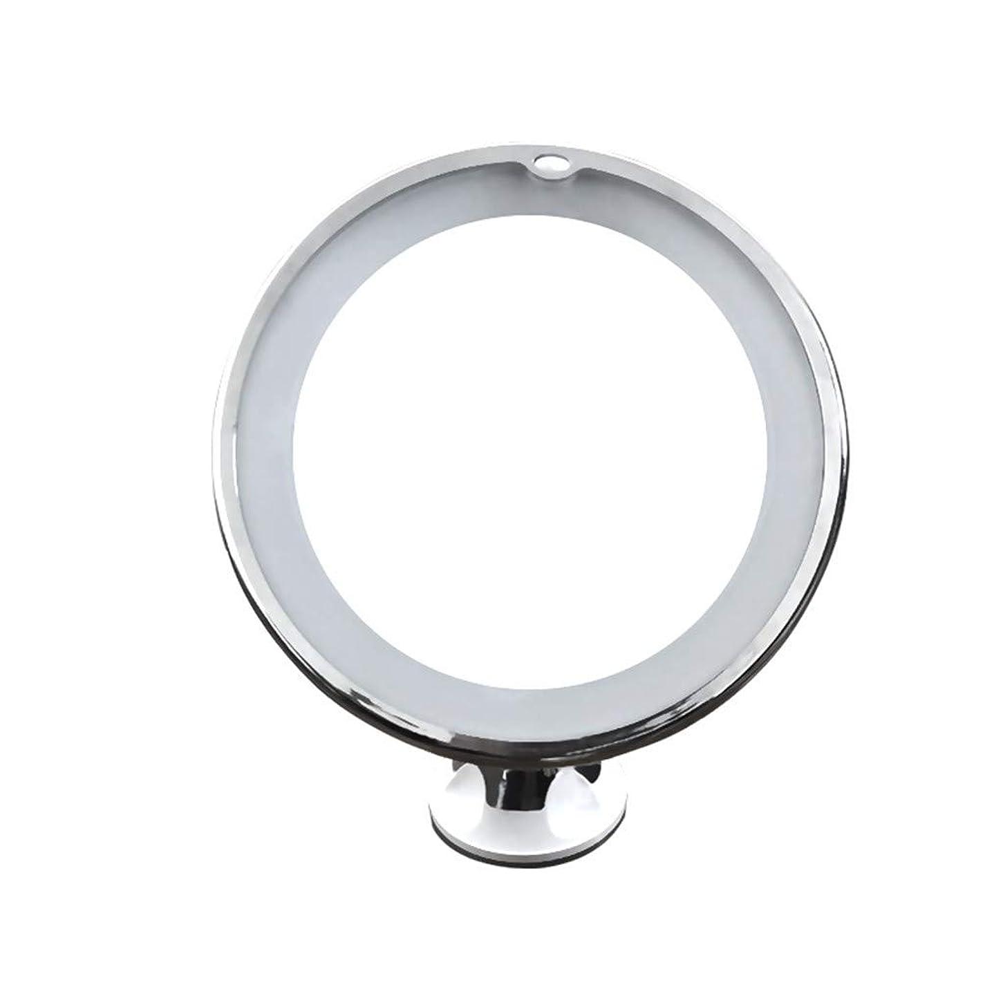 騒ぎぐったり印刷するTichan led円形化粧鏡 メイクアップレンズ 適用範囲が広いミラー 10倍の拡大の化粧ミラー 高品質 クリック ポータブルコンパクト 寝室 浴室 寮の部屋 旅行 壁掛け 10倍のミラー