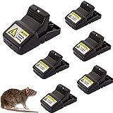C-nuts Health Paquete de 6 trampas de ratón para interiores y exteriores, de...