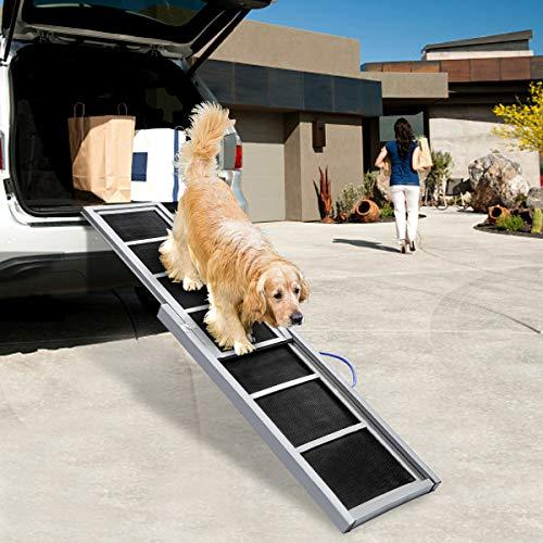 TOOCA Dog Ramps Telescoping Non-Slip Stable Wooden...