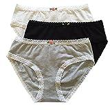 Esme Big Girl's Panty PT 14-16 White Grey Black