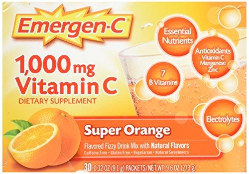 Emergen-C Vitamin C Fizzy Drink Mix Super Orange - 1000 mg - 30 Packets
