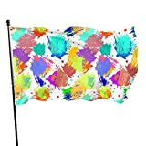 Pabellón de bienvenida Garden FlagColorful Splashes 3 X 5 Ft Flags Decorations Party Supplies Polyester with Metal Grommets Banner for Indoor Outdoor Home Party Decor