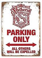 Slytherin Parking 金属板ブリキ看板警告サイン注意サイン表示パネル情報サイン金属安全サイン