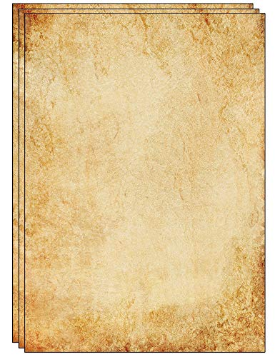 25 Blatt altmodisches Briefpapier/Vintage Design Papier DIN A4 130 GSM. Ideal für Vintage-Einladungen und Briefe